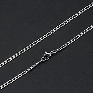 figaro chain cross necklace