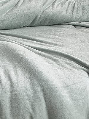 Plush Mineral Gray Touchy Feely Coma Inducer Thick Bedding Set from Byourbed