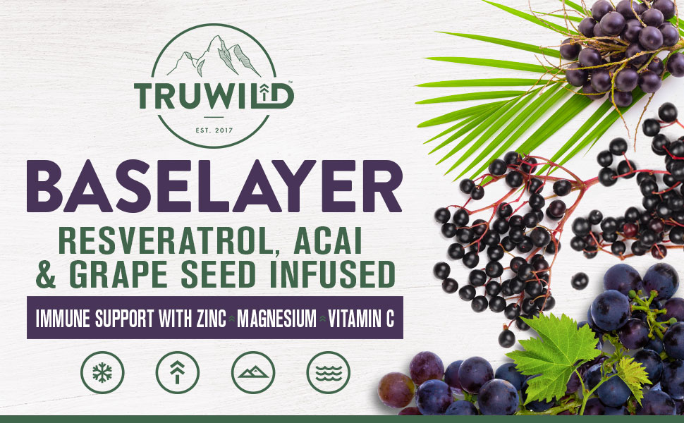Baselayer, resveratrol, acai, grape seed, zinc, magnesium, vitamin c, support, immune