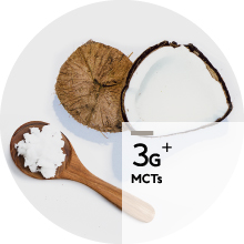 Apres contains MCTs from coconut oil
