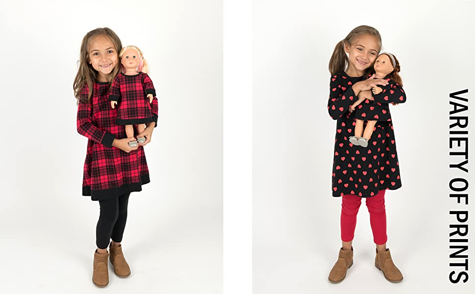 leveret, girl and doll clothes, girl and doll dress, american girl, kids clothes, back to school