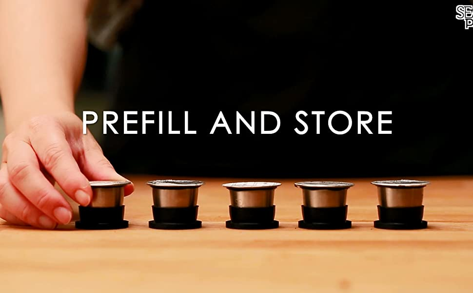 Prefill and store Sealpod's Nespresso reusable pods