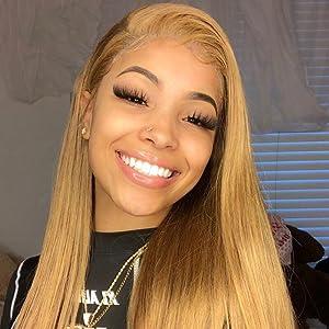 4x4 honey blonde wig
