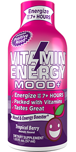 Vitamin Energy Shots Mood+ Focus+ Immune+ Energy+ Energy Lasts up to 7+ Hours  Keto Drink Friendly