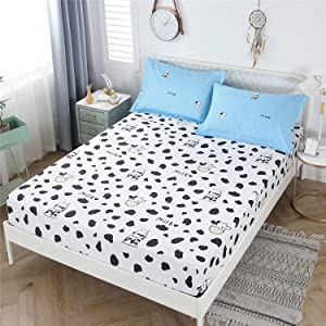 YOU SA cow print fitted sheet