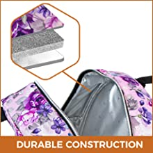 lunch bag with pocket and handheld lunch purse handle