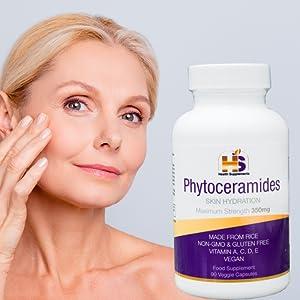 phytoceramides, ceramides, phytoceramide capsules, anti wrinkle, anti ageing, youthful skin,