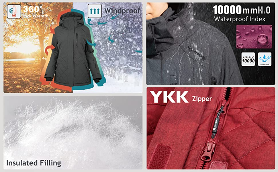 Superior Warmth/Waterproof/Insulated Filling/YKK Zipper