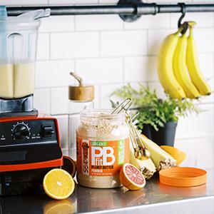 pbfit peanut butter powder organic betterbody foods peanut butter smoothie