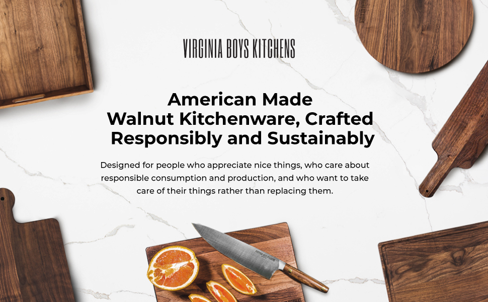 American made in USA walnut wood cutting boards block for meat cheese vegetables charcuterie and bbq
