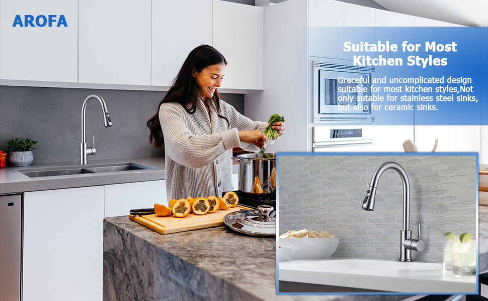 pull down kitchen sink faucet with sprayer
