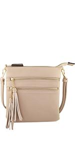 crossbody bag, purse, vegan, tassel