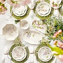 juliska berry and thread floral sketch ceramic dinnerware