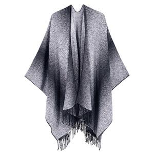 Lachi Poncho de invierno para mujer reversible de gran tama/ño c/álida con estampado de c/árdigans