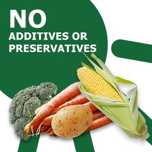 No preservatives, no additives, all natural
