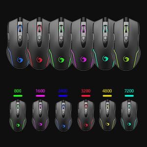 LED backlit mouse