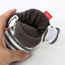 12-15 Monate, C-Schwarz EDOTON Unisex Neugeborenes Schneestiefel Weiche Sohlen Streifen Bootie Kleinkind Stiefel Niedlich Stiefel Socke Einstellbar