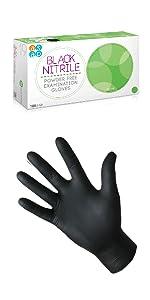 Black Heavy Duty Nitrile Auto Mechanic Tattooist Gloves
