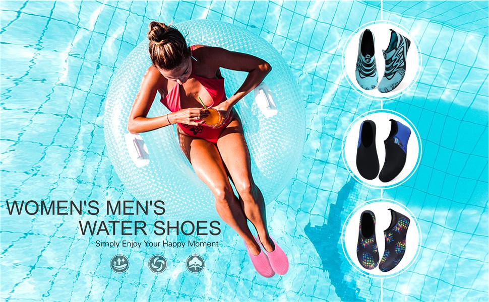 water shoes for women men kids adults aqua socks shoes for beach non slip slip on water shoes