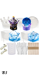 Crown Trinket Box amp; Gems Molds Set 59-kit