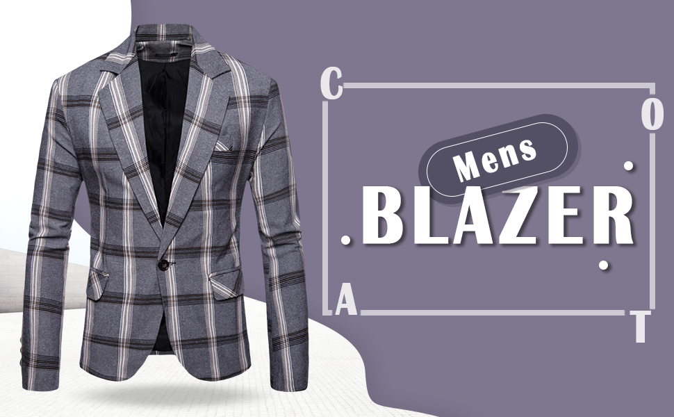 Mens Casual Blazers Sport Coats for Jeans Slim Fit Floral Plaid Print Suit Jackets