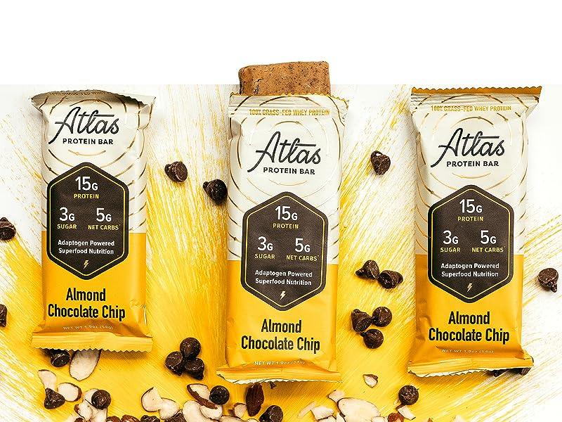 Almond Chocolate Chip Atlas Bars