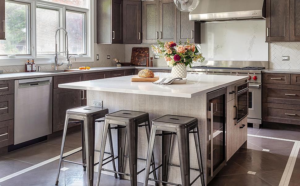 Indoor-Outdoor Stackable Kitchen Stools Set