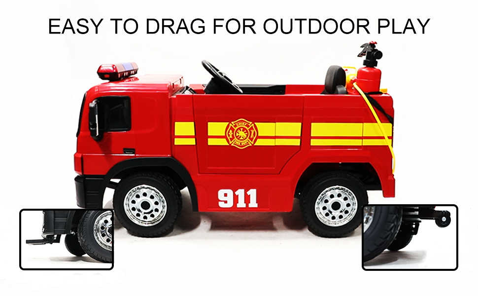 ride along fire truck for toddlers