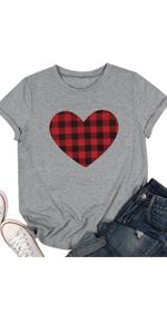Buffalo Plaid Heart Shirt