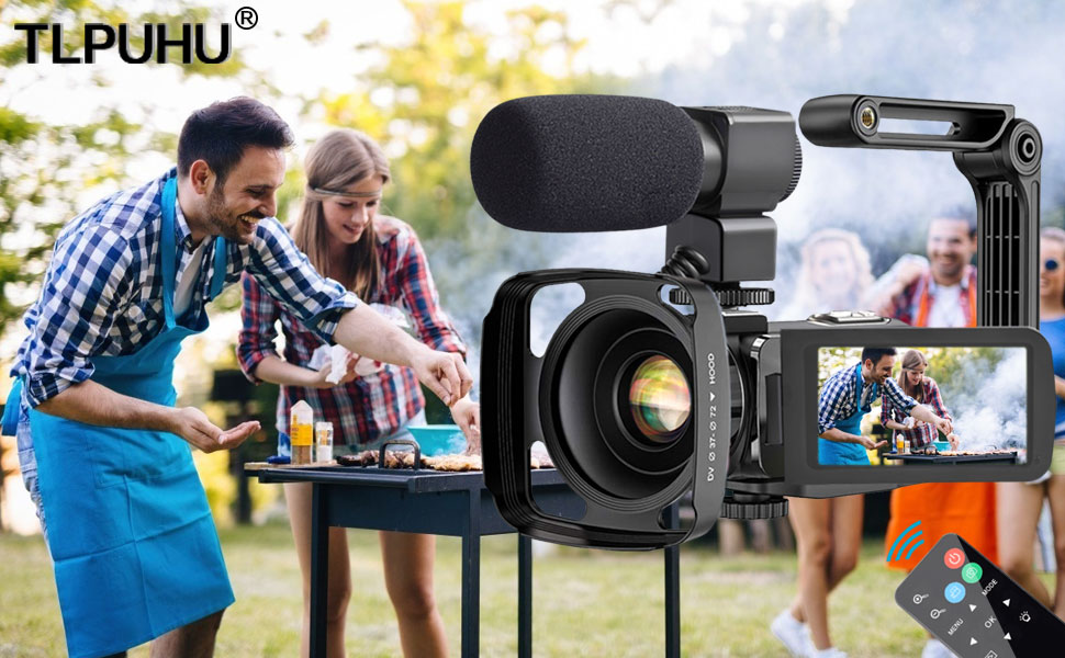 video camera with microphone