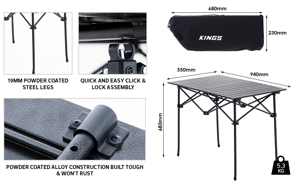 Aluminium Roll-Up Table