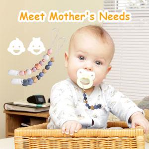 Cadenas para Chupetes sin BPA, Chupetes Clip de Silicona Para Bebé, Mordedor de Silicona, Regalo Para Bolso Chupete (multi)