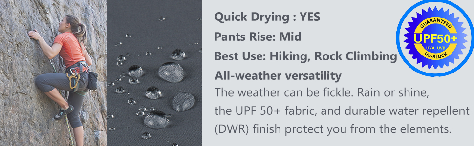 Upf 50+ Women hiking shorts