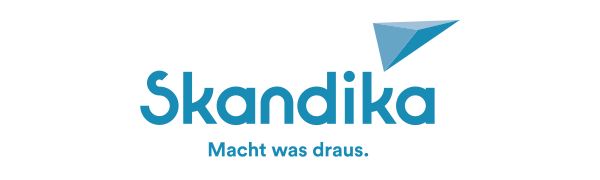 skandika Sherpa Kindertrage Dunkelblau//Hellblau M