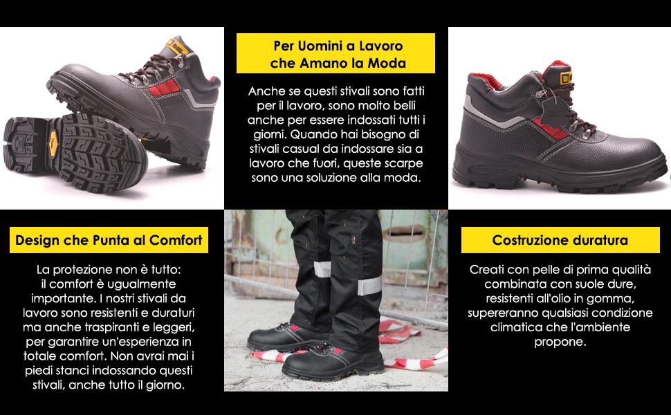 Stivali Antiscivolo di sicurezza duraturi con suole antiscivolo SRC