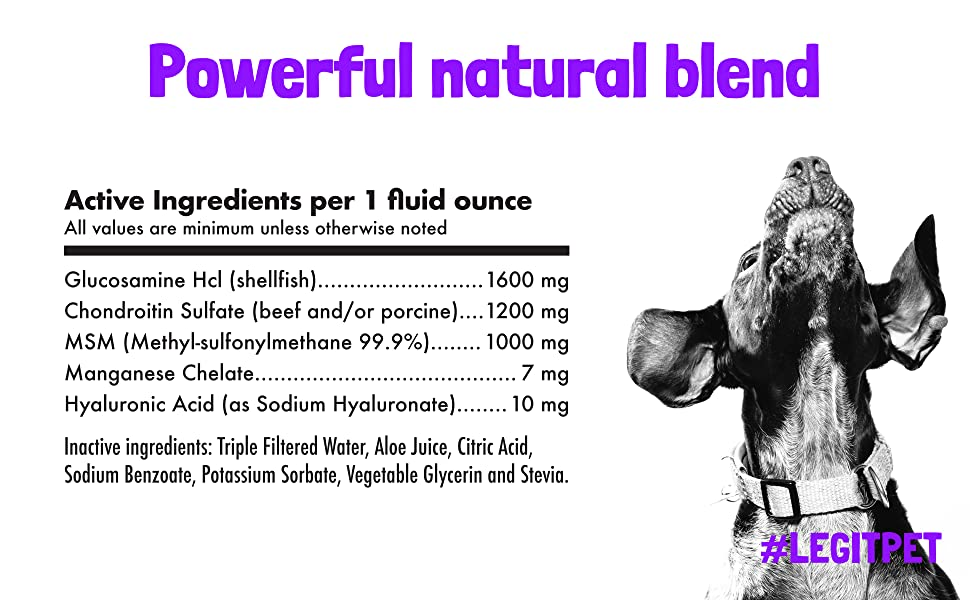 LEGITPET Glucosamine Ingredients
