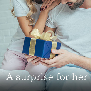 a surprise for her