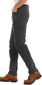 Men's Outdoor Quick Dry Hiking Pants Waterproof Climbing Camping Pants with Belt