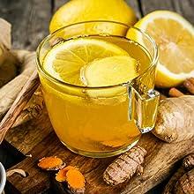lemon honey tea gift set drink flavor cold sick sore throat ginger natural health benefit cocktail