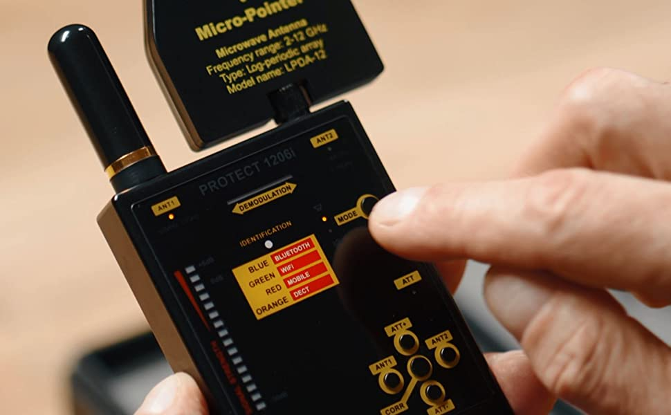 DD1206 Frequency Ranges Hidden Bugs Detector Scanner