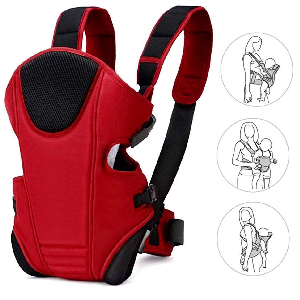 bay carrier red baby carry bag backpack 3 way carrying postions bags for new born 0 to 18 24 12