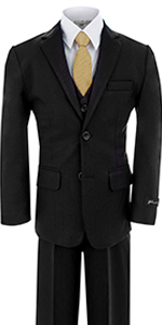 Black, formal, suit, boys, set, wedding