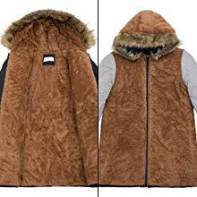 Ajuste perfecto y abrigo largo con capucha súper lindo y cálido de invierno para hacer un muñeco