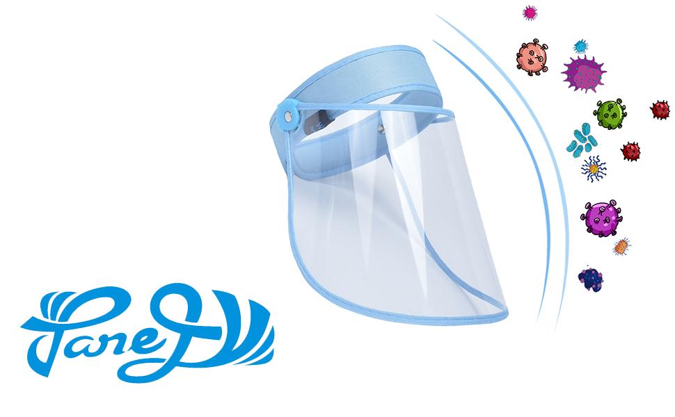 AIEOE Pack de 2 Visera Protectora Transparente Prueba de Sapicaduras Escudo de Protecci/ón de Cara Antivaho Ajustable Protector Facial Completa para Hombre Mujer
