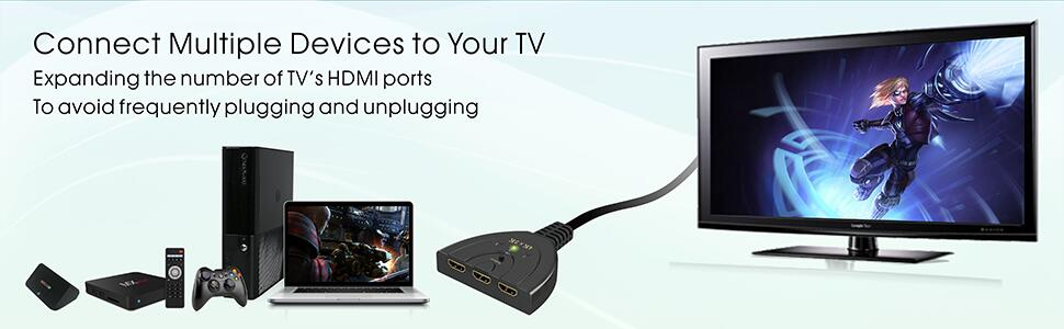 connect multiple devices to your TV