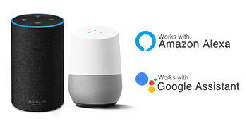 work with amazon alexa and google assistant