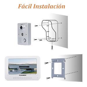 FLOUREON Videoportero Timbre Interphone Security Intercom System con 7 pulgadas Color TFT LCD Monitor y IR LED Cámara de visión nocturna para casas privadas, villas, oficinas, hoteles: Amazon.es: Bricolaje y herramientas
