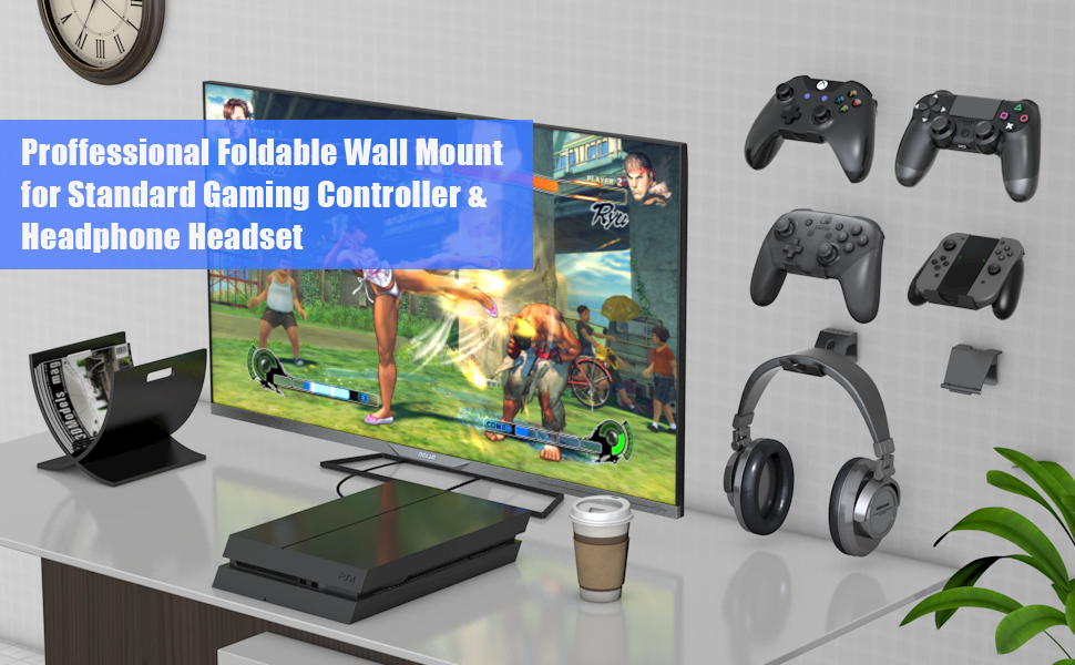 headset ps4 xbox one nintendo switch pro controller wall mount