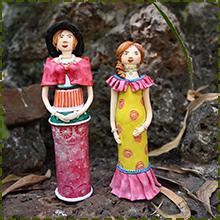 handmade resin clay dolls