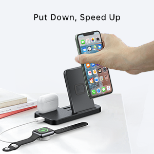 irPods Stand Charging Dock Station Holder Compatible with Apple AirPods Pro 1 2